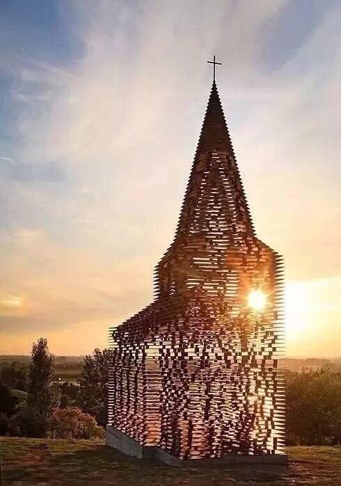 """比利时的""""透明教堂"""",仿佛还能听到空灵般的声音"""