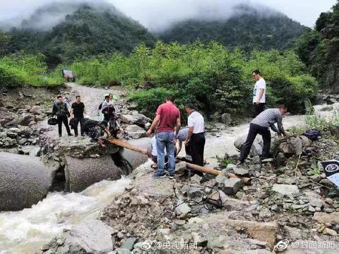 汶川暴雨已致9死35失联
