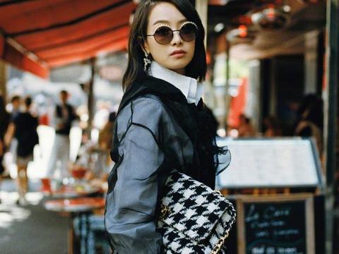 她在韩国出道却在中国大红,今穿8万2的秋装现身街头,优雅高级
