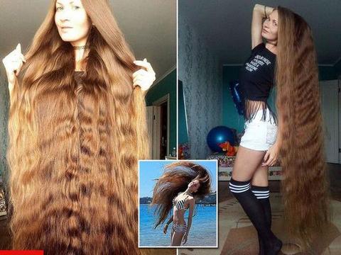 世界上最漂亮的金发女郎, 靠网络晒头发为工作, 日赚千元!