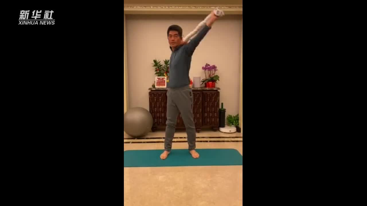 梁文冲的健身方法很特别