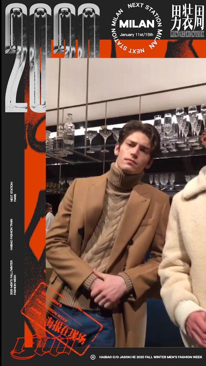 @TODS 2020秋冬系列,身着本季主打的男模们可可爱爱