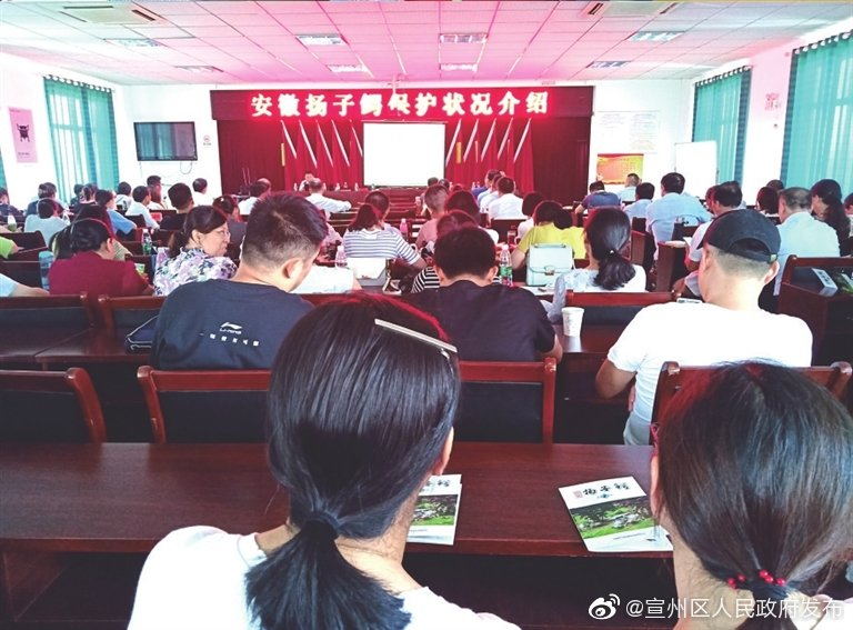 """日前,向阳街道举行了""""安徽扬子鳄保护状况介绍""""报告会"""