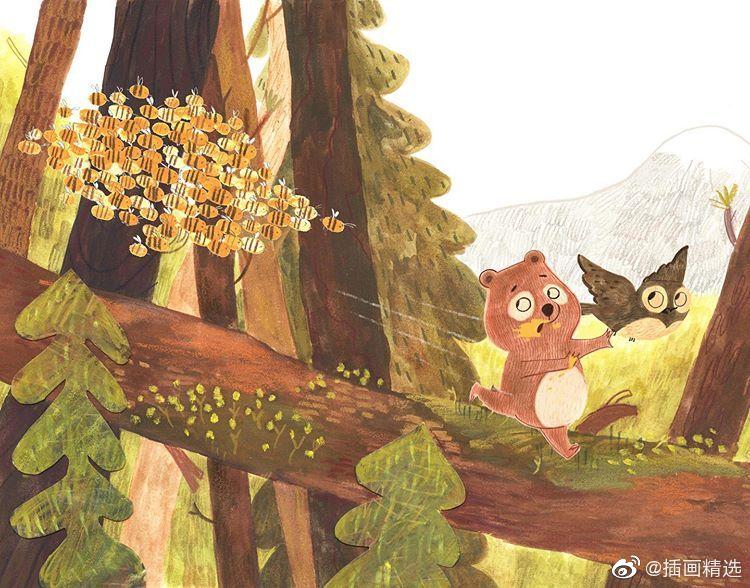 乡下温暖的时光儿童主题插画-插画师ema_malyauka