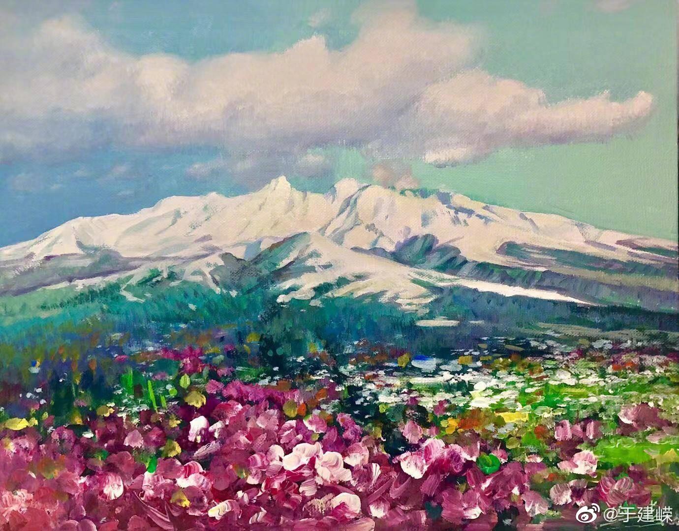 图一为中国美术家协会会员、著名油画家徐延春油画作品——《带有祥云