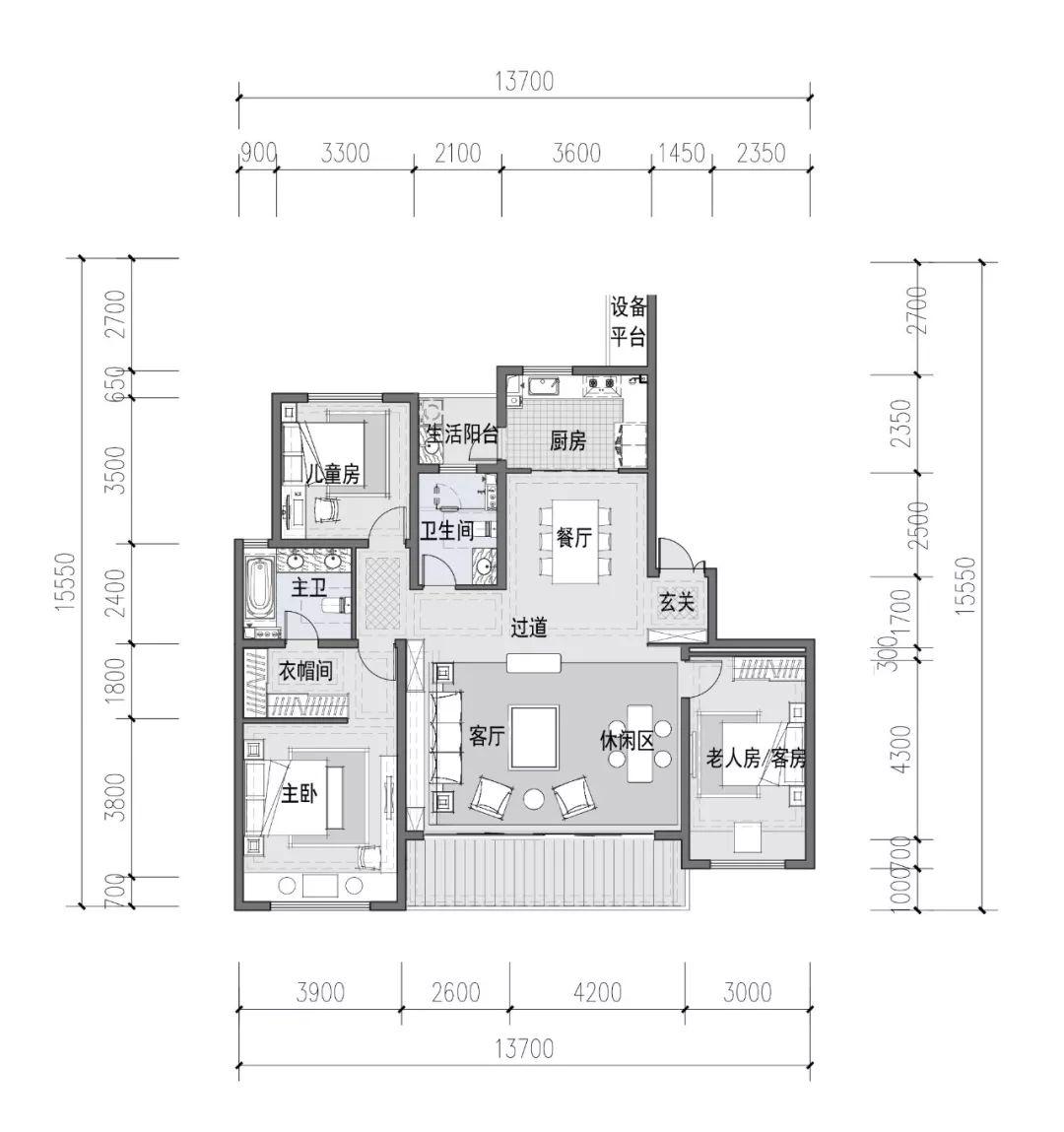 8米大横厅设计,还是豪华主卧套的设计,同类产品中均难逢敌手.
