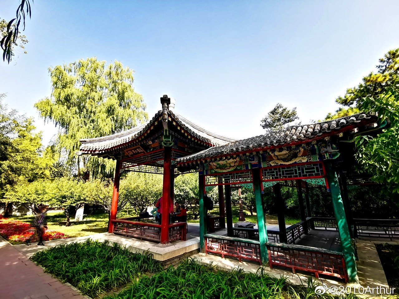 去北京地坛公园赏红叶,却意外发现了一个园中园,中医药养生文化园