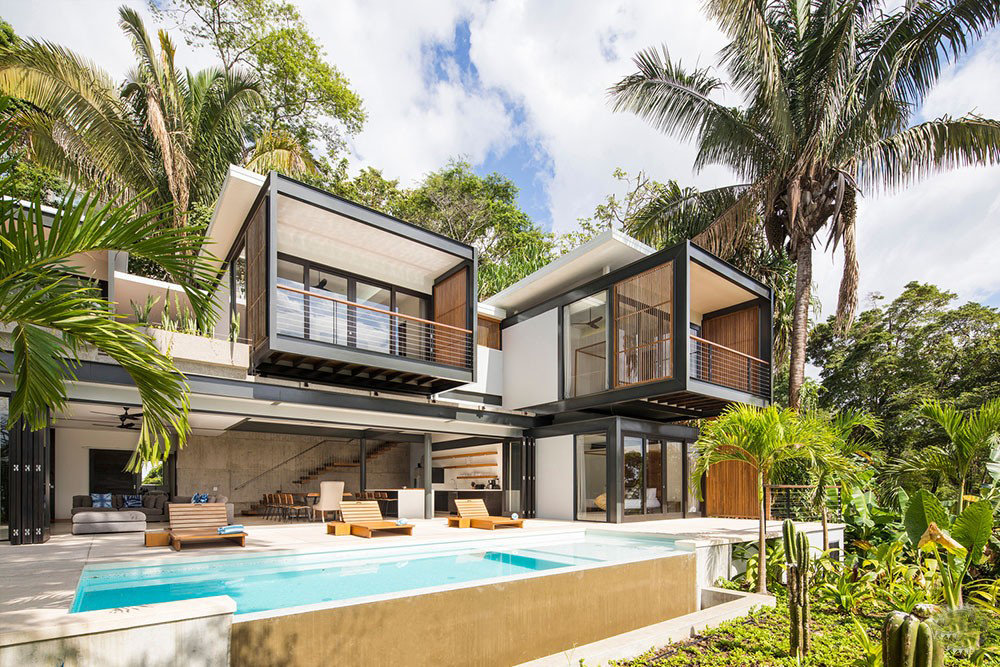 热带雨林的别墅酒店