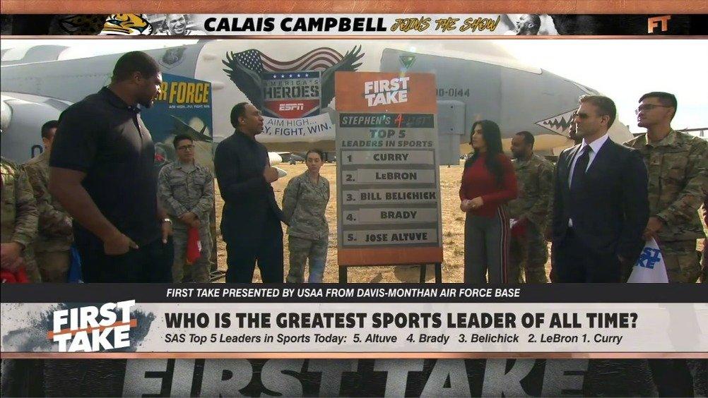 斯蒂夫-A史密斯心中体育界最佳领导者Top5:库里榜首,詹姆斯第二