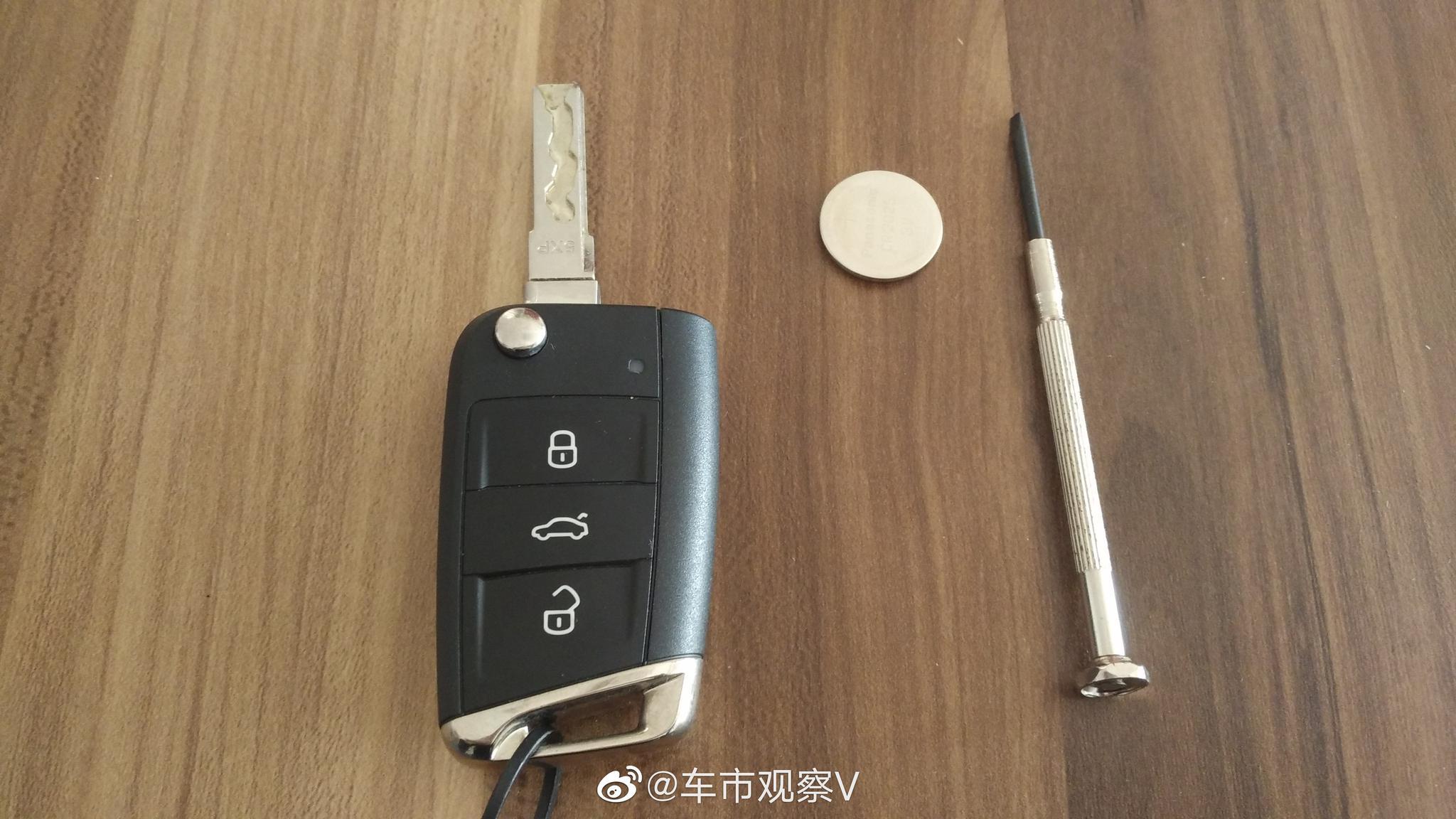 自己动手更换汽车遥控钥匙电池,很简便