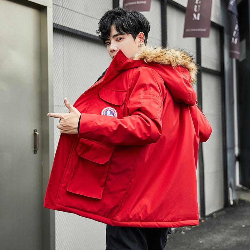棉衣男潮棉袄2019新款秋冬装加厚冬天外套男士棉服中长款冬季