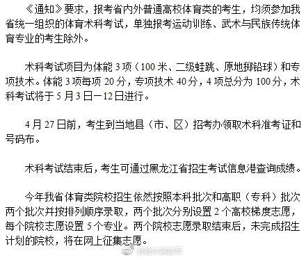 全省高考体育术科考试4月27日前领准考证