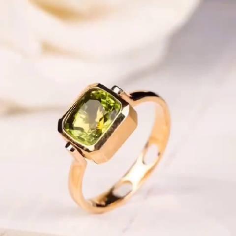 一款多戴的橄榄石戒指又出一枚~可以当吊坠也可以当戒指,随心搭配