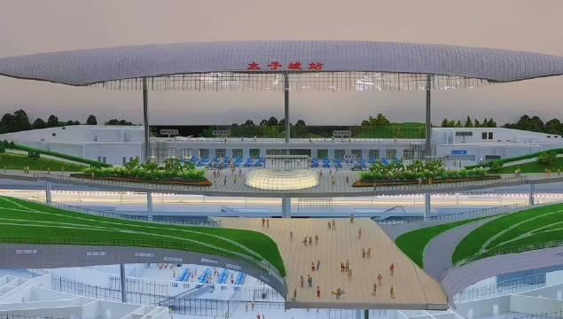 太子城高铁站位于张家口市崇礼区冬奥核心区,距离奥运村约2公里