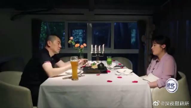 直男癌陈建斌贴心投食老婆,蒋勤勤一脸幸福,瞬间浪漫满屋!