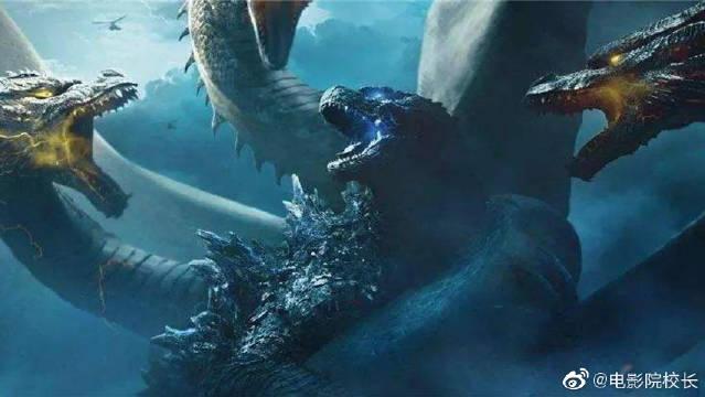 《哥斯拉2:怪兽之王》哥斯拉打死王者基多拉,成为怪兽之王~