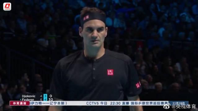 ATP年终总决赛:出线关键战 费德勒击败德约科维奇晋级