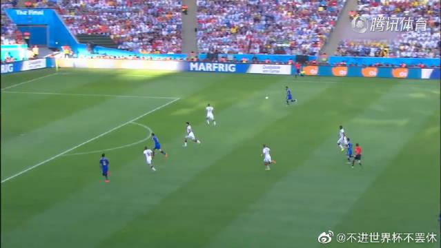 经典!2014世界杯决赛:德国1:0对战阿根廷,格策绝杀梅西梦碎。