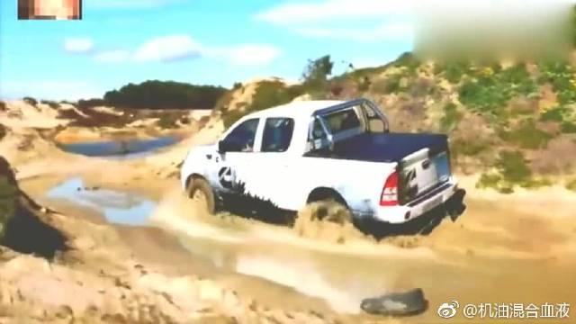 视频:福田拓陆者四驱版皮卡越野测试,看起来不输福特150丰田坦途