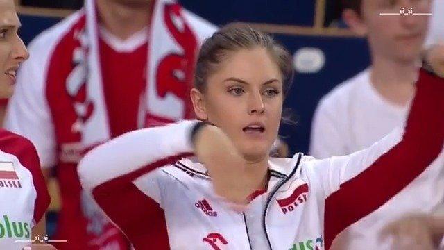 波兰女排15GRAJBER 也是个谐星 哈哈