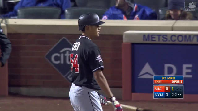 @MLB美职棒大联盟 2017年4月8日马林鱼队台湾投手陈伟殷在对阵大都会