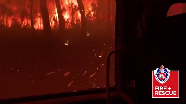 来自怀俄明州新南威尔士州509消防站的救援人员录制了这段视频
