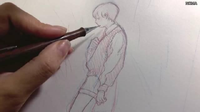 授权:画师『NOMA』的手绘线稿绘画工具介绍
