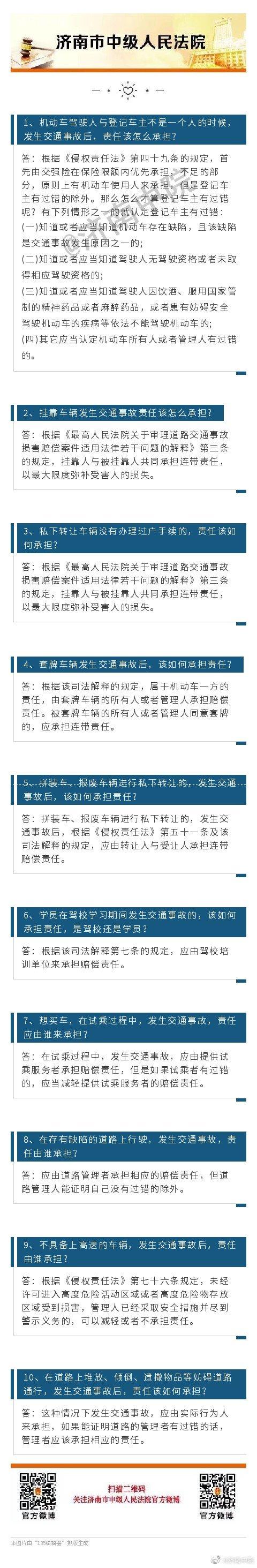 超详细!交通事故30个法律问题一览+司法解释