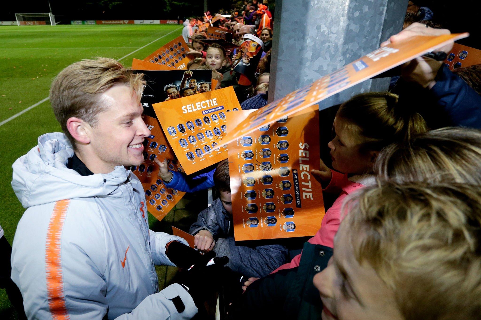 德容在荷兰国家队