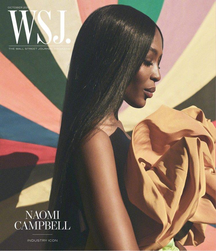 娜奥米·坎贝尔(Naomi Campbell)登上《华尔街日报》 2019年10月号封