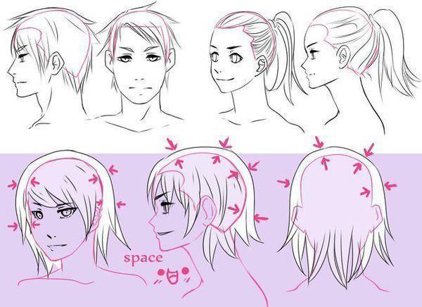 【精选】手绘漫画人物的头发怎么画?