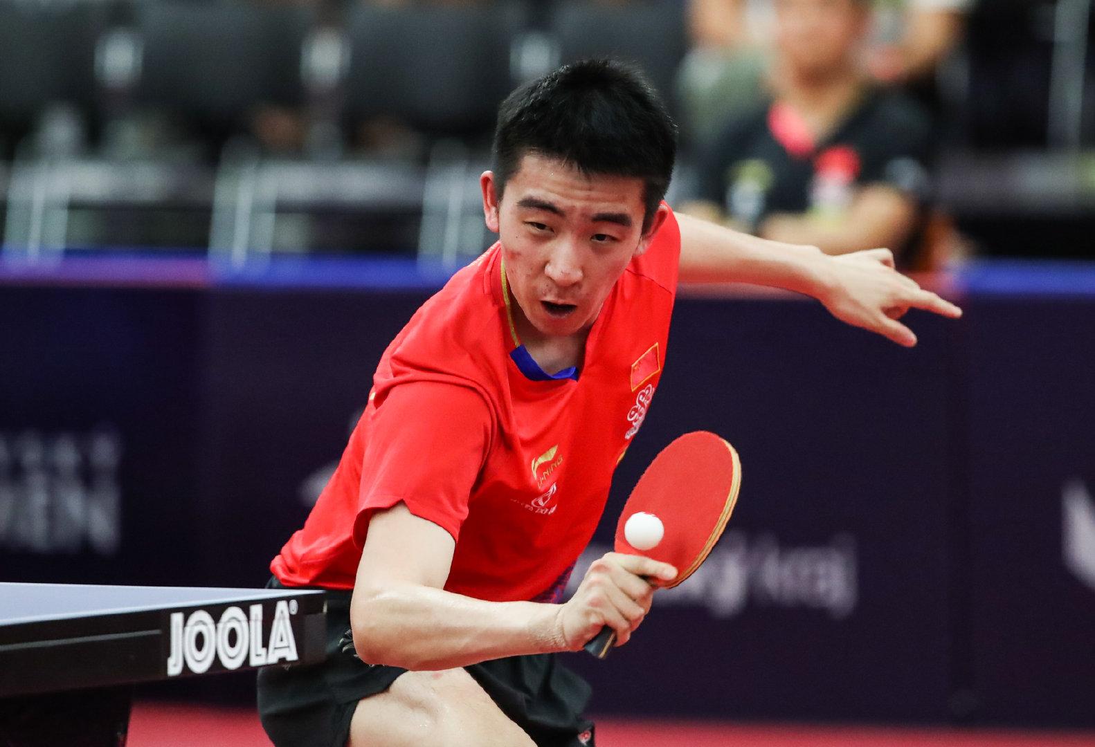 在捷克奥洛穆茨举行的2019国际乒联世界巡回赛捷克公开赛男单八分之一