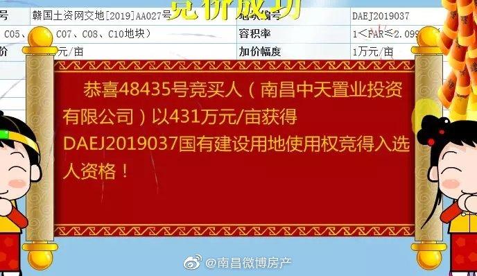 7.39亿!红谷滩城投底价拿下九龙湖北岸大型商住地块