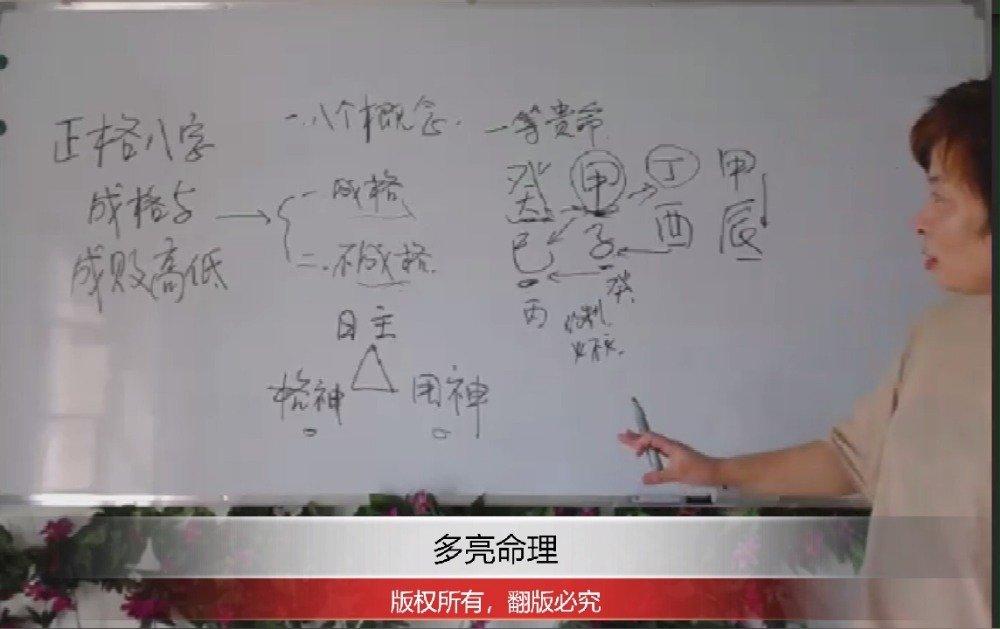 多亮八字命理学,八字初级入门班,讲课视频节选011