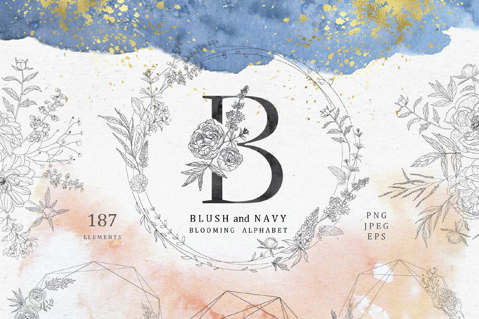 梦幻蓝色新字体文艺英文海军花卉装饰公司v梦幻开广告设计图案注意什么图片