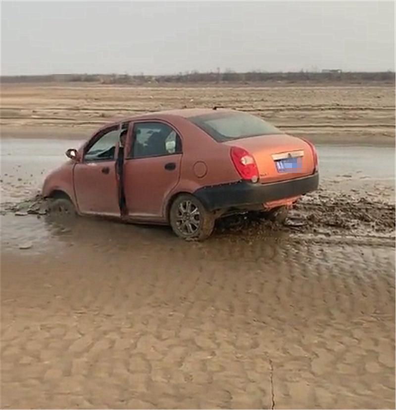 9万奇瑞A3在黄河滩上行驶,本不会注意,但下一个画面实在吸睛