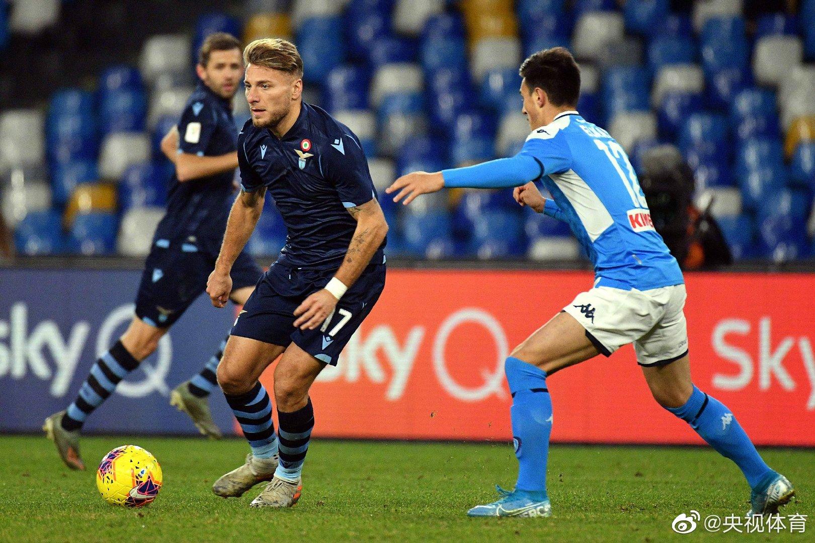 因西涅破门 那不勒斯1-0拉齐奥晋级意大利杯四强
