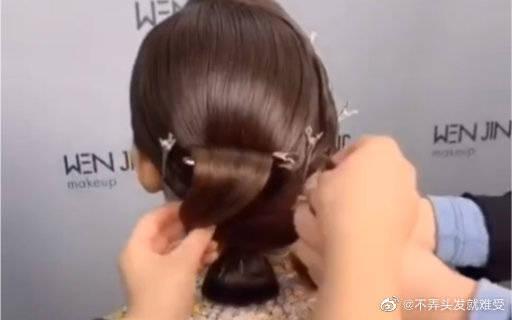 发型教程分享!!低发髻中式造型,气质满满~~