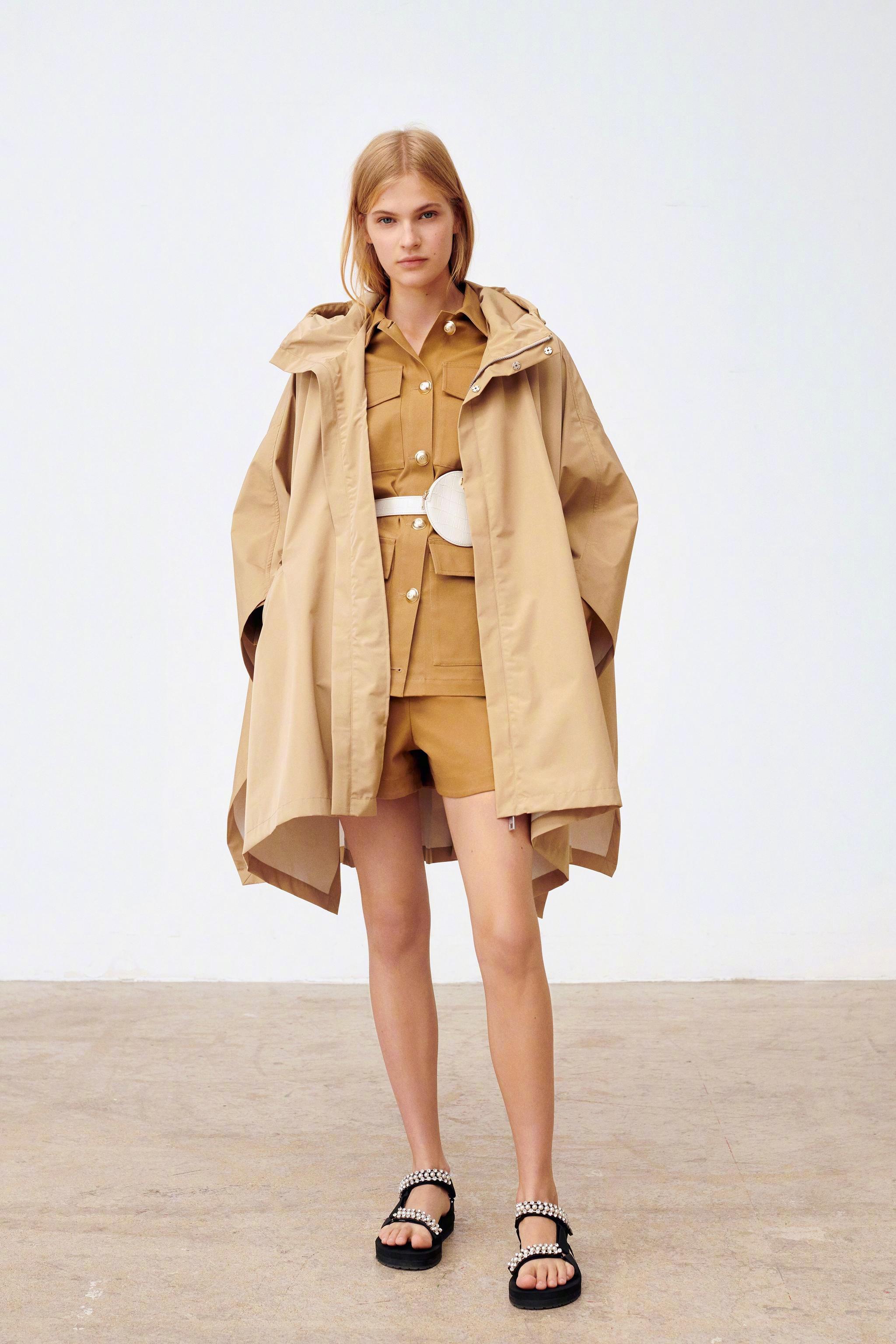 Maje 2020 春夏系列———七十年代的冰糕色太阳裙、泡泡边连衣裙、迎
