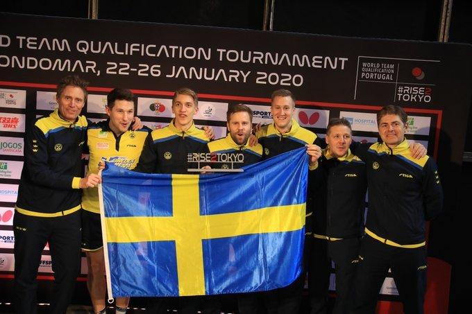 瑞典男团通过奥运会资格赛进军奥运会,恭喜