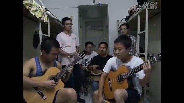 大连理工大学研究生万震宇等六位大学生翻唱《加州旅馆》