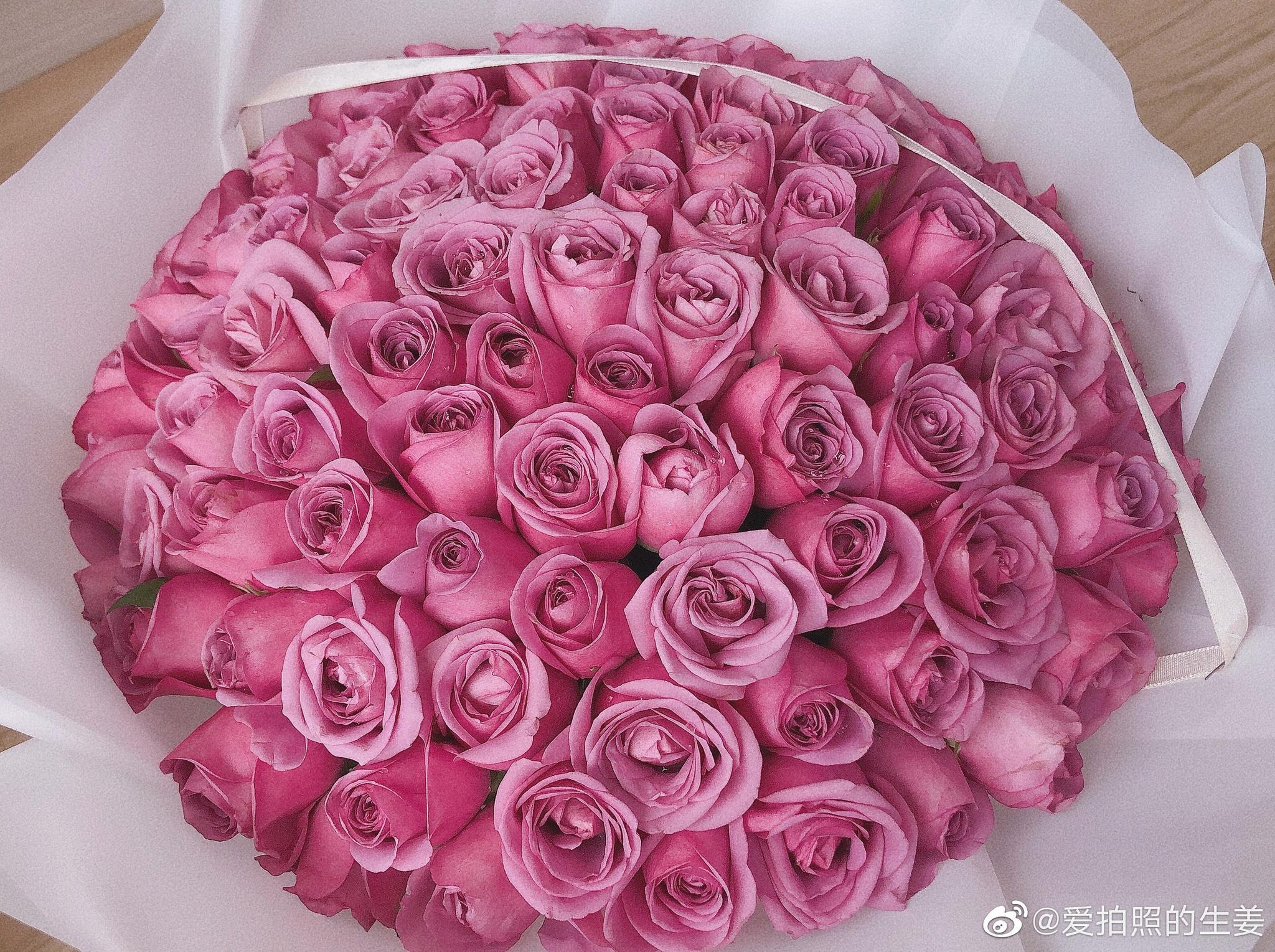 把鲜花晒成了干花~紫玫瑰晒干了也美美哒