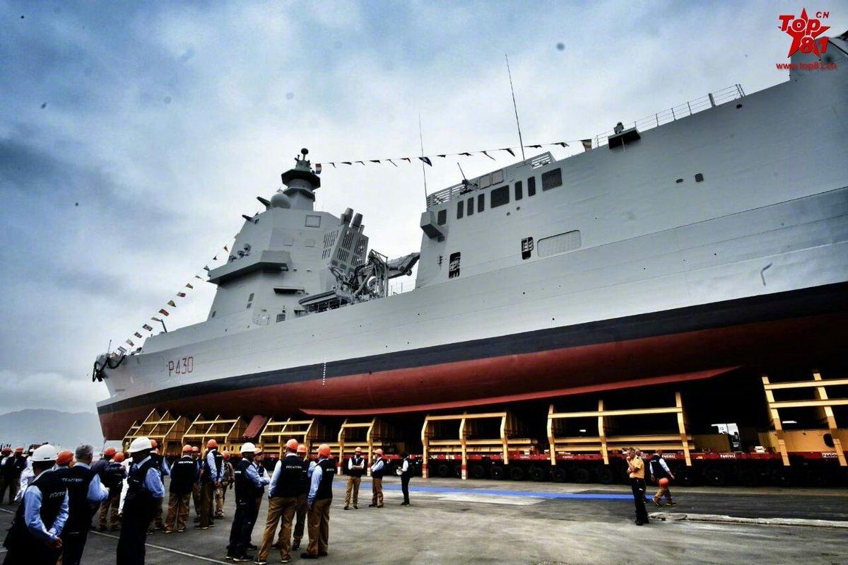 意大利海军首艘PPA巡逻舰下水仪式