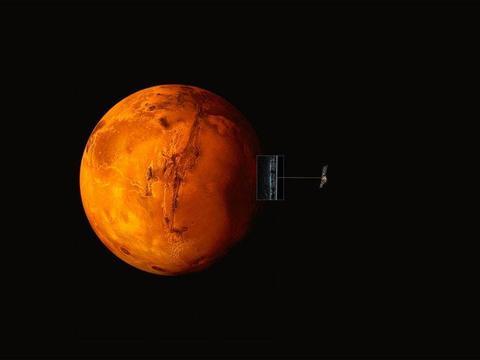 火星轨道飞行器在火星上探测到一片直径为20千米的冰下湖泊