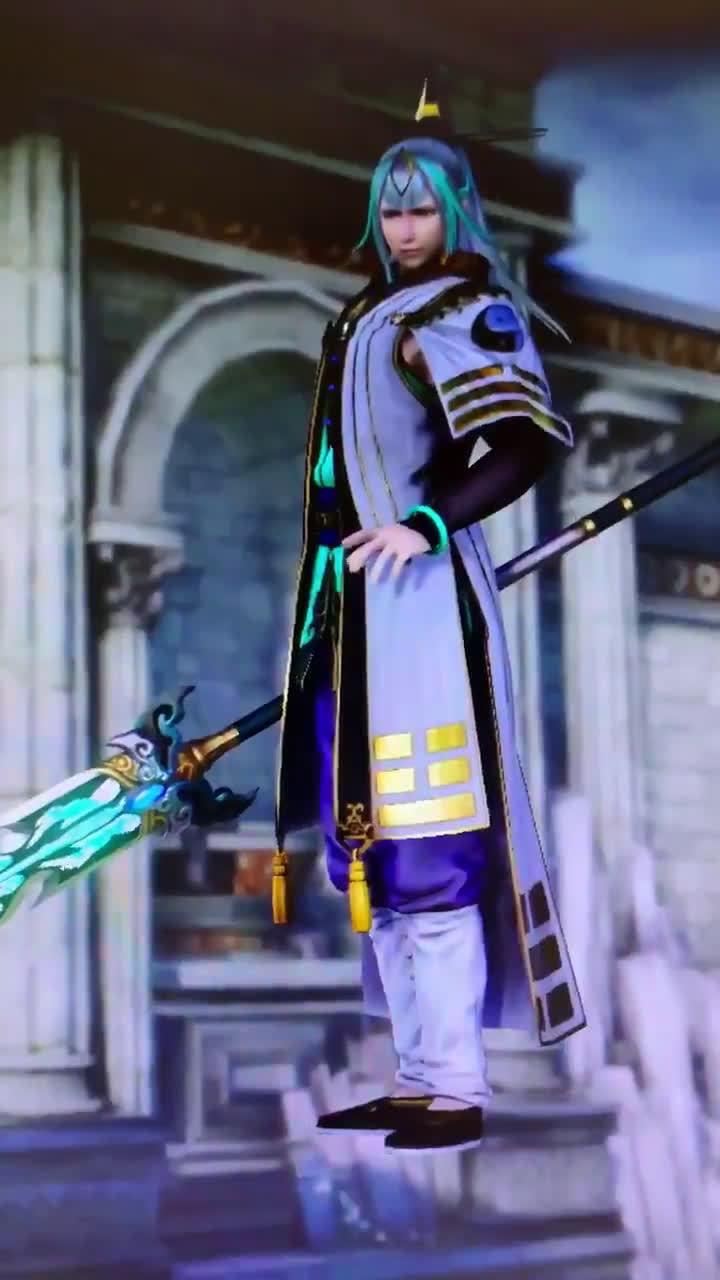 """光荣特库摩公开《无双大蛇3 Ultimate》中新角色""""杨戬""""在游戏中实际"""