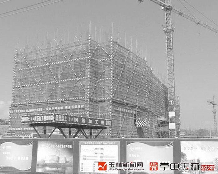 广西医科大学玉林校区项目在建的二期工程建筑面积约15万平方米