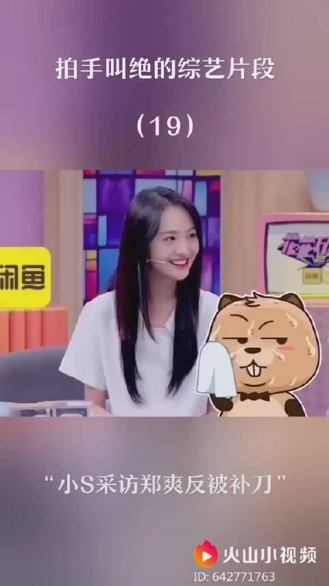 小S采访郑爽反被补刀