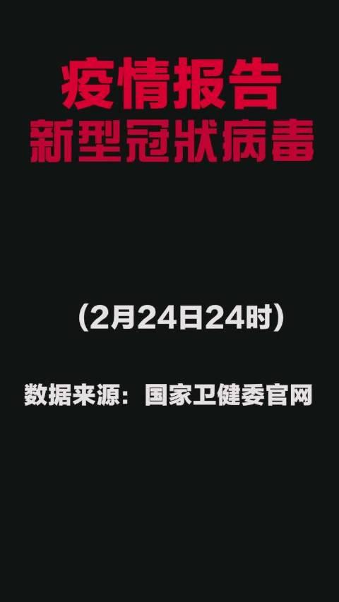新型冠状病毒疫情报告:截止2月24日24时,累计报告确诊77658例