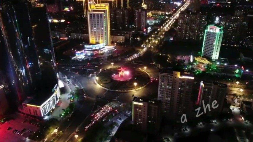 霓虹灯下的商丘,换个角度看美景(来源@ZHANG家老幺  )