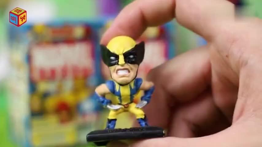 漫威超级英雄惊喜盒子得到变色龙金刚狼玩偶